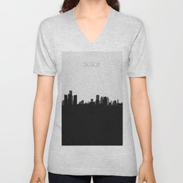 City Skylines: Detroit Unisex V-Neck