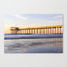 Scripps Pier La Jolla Shores Beach Canvas Print