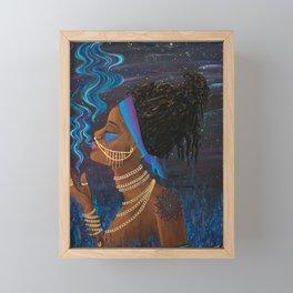 Rök ~ Goddess of Smoke & Stars Framed Mini Art Print