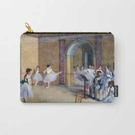 Edgar Degas - The Dance Foyer at the Opera on the rue Le Peletier Carry-All Pouch