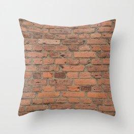 Stone Brick Wall Throw Pillow