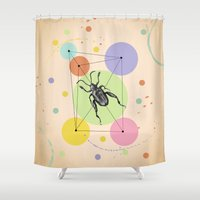 bug Shower Curtains featuring bug by mark ashkenazi
