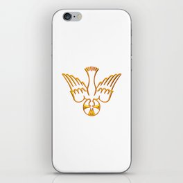 Golden 3-D Look Descent of The Holy Spirit iPhone Skin