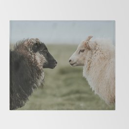 Sheeply in Love - Animal Photography from Iceland Throw Blanket