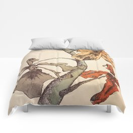 Hello Orchids Comforters