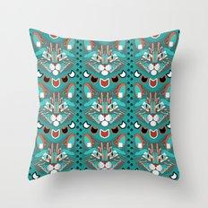 Cubist Cat Throw Pillow