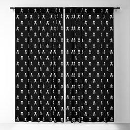 BLACK & WHITE SKULLS ALL OVER PRINT LARGE Blackout Curtain