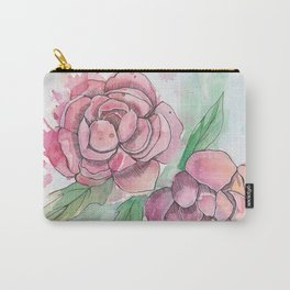 Peony Splatter Carry-All Pouch