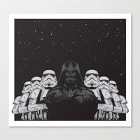 animal crew Canvas Prints featuring The crew by Roland Banrevi