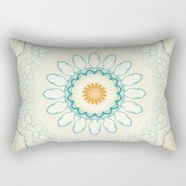 Pastel Yellow Baby Blue Mandala Rectangular Pillow