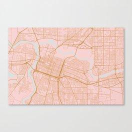 Sacramento map, California Canvas Print