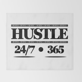 HUSTLE 24/7 365 Throw Blanket
