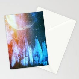 Ice Sky Moonscape Stationery Cards