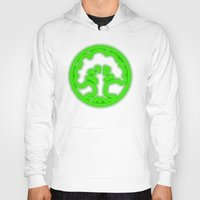 magic the gathering Hoodies featuring Magic the Gathering, Neon Green Mana by Thorn Blackstar