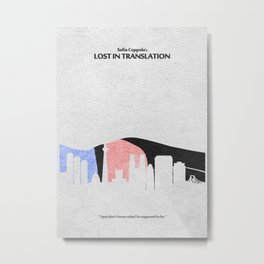 Lost in Translation Metal Print