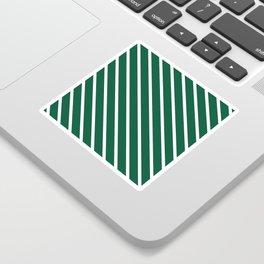 Teal The World (Green) Diagonal Stripes Sticker