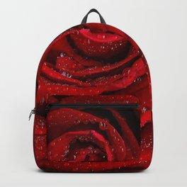 Red rosa morning Backpack