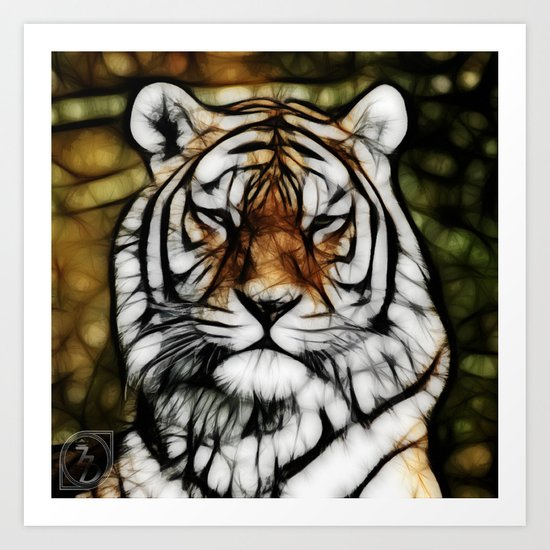Painted Tiger Art Print
