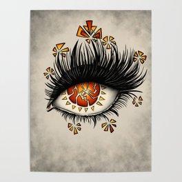 Weird Eye Of Fractured Lava | Digital Art Poster