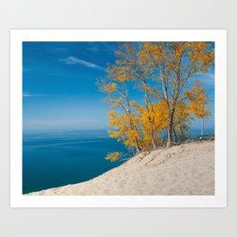 Lake Michigan Vista - Sleeping Bear Dunes Art Print