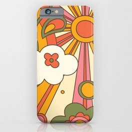 distorted groovy pattern iPhone Case