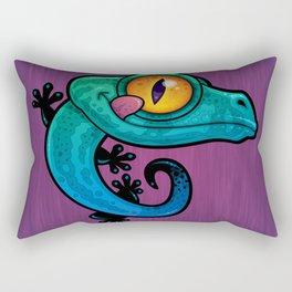 Colorful Gecko Rectangular Pillow