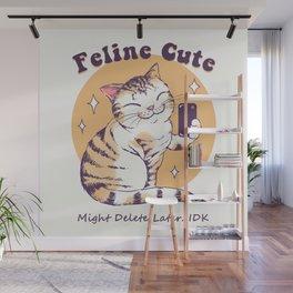 Feline Cute Challenge Wall Mural
