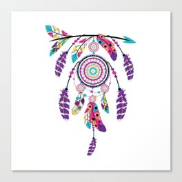 Colorful dream catcher on arrow Canvas Print