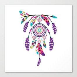 Colorful dream catcher on arrow Canvas Print