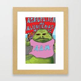 Jabba the moyan Framed Art Print