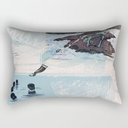New Discoveries and Dangers Rectangular Pillow