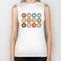 donuts Biker Tanks featuring Donuts by TinyBee