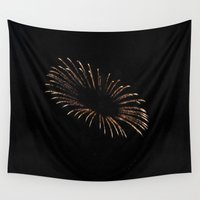 halo Wall Tapestries featuring Halo Fireworks by Country Girl Designs