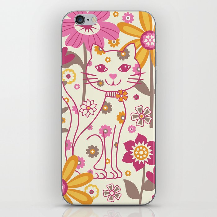 Garden Cat iPhone Skin