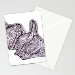 Abstract organic line drawing doodle 4 Stationery Cards
