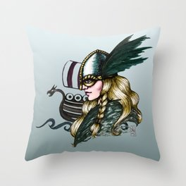 Valkyria Throw Pillow