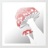 mushrooms Art Prints featuring MUSHROOMS by ARCHIGRAF