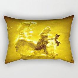 Yellow neBUla Pillars of Creation Rectangular Pillow