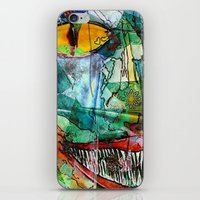 cheshire cat iPhone & iPod Skins featuring Cheshire by Eliya Stein