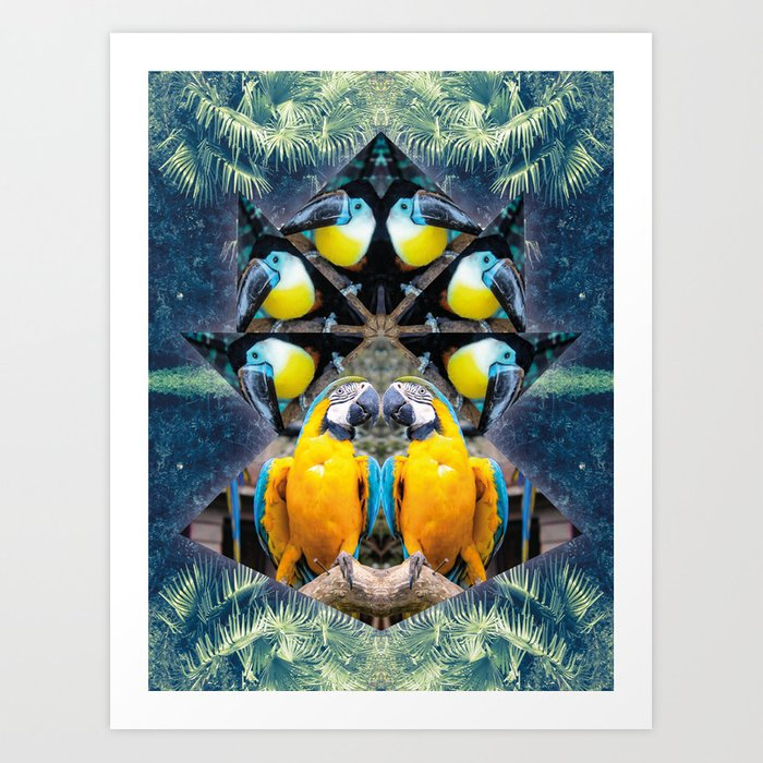 Rainbow Jungle Art Print