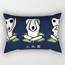 Three Kodama Rectangular Pillow
