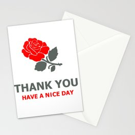 A Rosy Thank You Stationery Cards