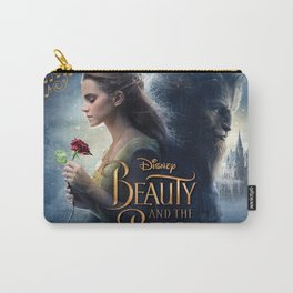 beauty and the beast poster Carry-All Pouch