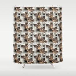 Battery Mishler Power Hoist lower section pattern Shower Curtain