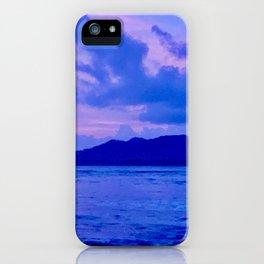 Blue Mountain Shore iPhone Case