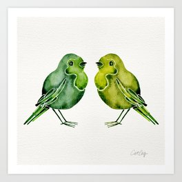 Parakeets Art Print