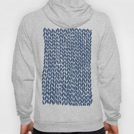 Hand Knit Navy Hoody