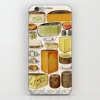 cheese iPhone & iPod Skins featuring CHEESE by Kathead Tarot/David Rivera