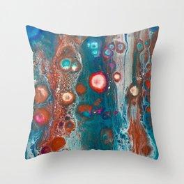 Peacock Colours Throw Pillow