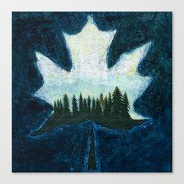 Sugar Maple Leaf Canvas Print